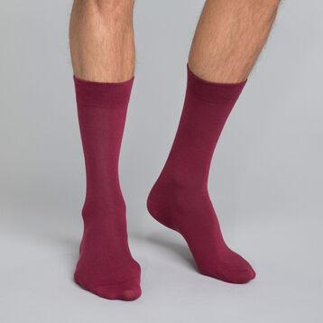 Calcetines de algodón burdeos Hombre - Basic Coton, , DIM