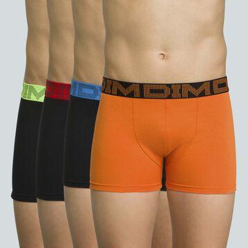 Pack de 4 boxers de niño de algodón elástico Renard Mix & Color, , DIM