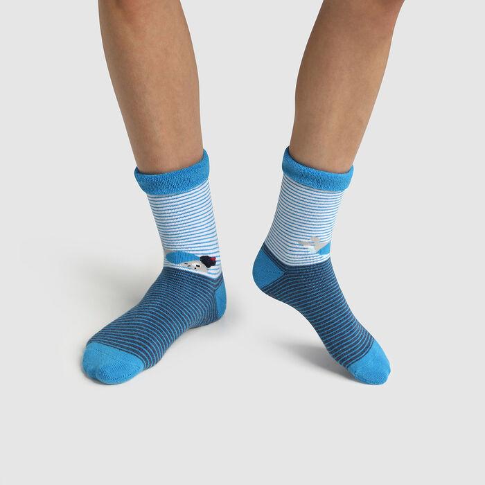 Calcetines para niña antideslizantes suaves estampado pulpo Dim Cocoon, , DIM