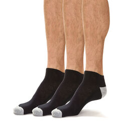 Lot de 3 socquettes de sport noires EcoDIM Micro Homme-DIM