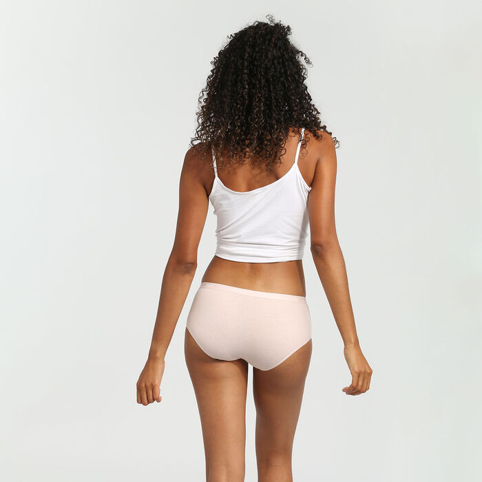 Pack de 3 culottes de algodón elástico rosa/marrón/rojo Les Pockets EcoDim, , DIM