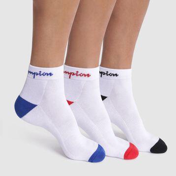 Pack de 3 pares de calcetines bajos blancos - Champion Performance, , DIM