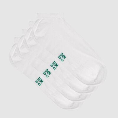 Pack de 2 pares de calcetines bajos para hombre de algodón lyocell blanco Green by Dim, , DIM