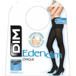 Collant Edendim noir Sans ceinture Opaque 40D-DIM