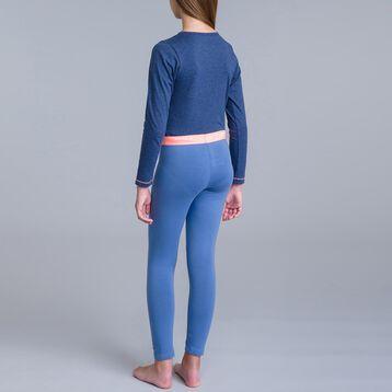 Pyjama 2 pièces pantalon bleu jean et t-shirt bleu DIM Girl-DIM