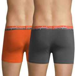 Lot de 2 boxers 3D Flex Dynamic orange et gris-DIM