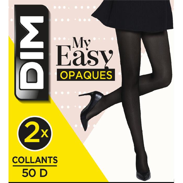 Pack de 2 pantis opacos negros - Dim My Easy, , DIM