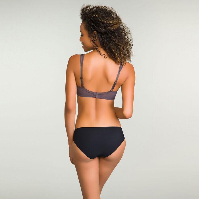 Braguita brasileña negra de encaje para mujer Daily Glam Trendy Sexy, , DIM
