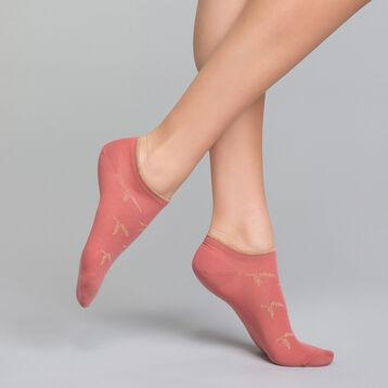 Calcetines bajos rosas con lurex cobre - Dim Coton Style, , DIM