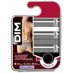 Pack de 3 slips para hombre 100% algodón Long Life, , DIM