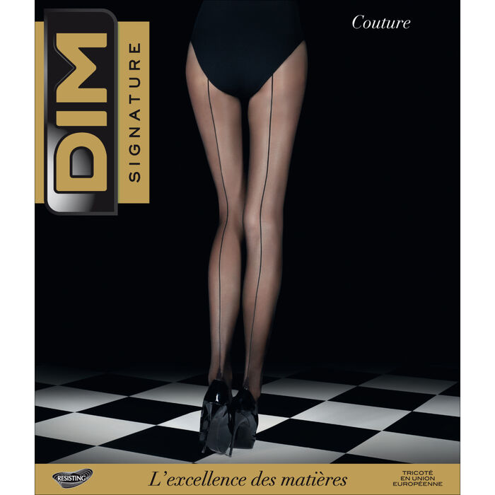 Panti negro DIM SIGNATURE costura 20D, , DIM