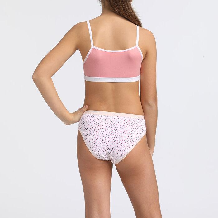 Pack de 4 bragas estampadas rosa y primavera Les Pockets DIM Girl, , DIM