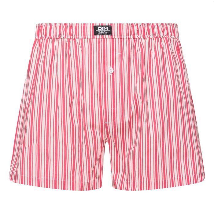 Men's pink stripe print boxer shorts Dim Collection , , DIM