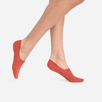 Juego de 2 pares de calcetines bajos de mujer Coton Style de lúrex oxidado, , DIM