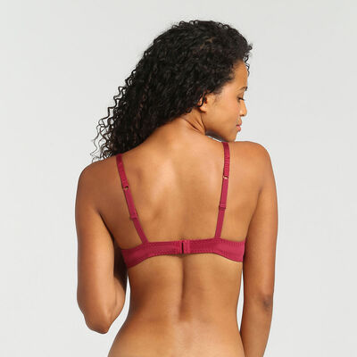 Sujetador triangular push-up rojo Sublim Dentelle de Dim, , DIM