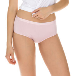 Lot de 3 Boxers peau/rose/nacre Les Pockets Coton-DIM