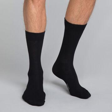 Calcetines negros de algodón Hombre - Dim Coton, , DIM
