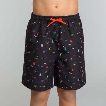 Bañador niño negro con estampado de colores - bain Aloha, , DIM