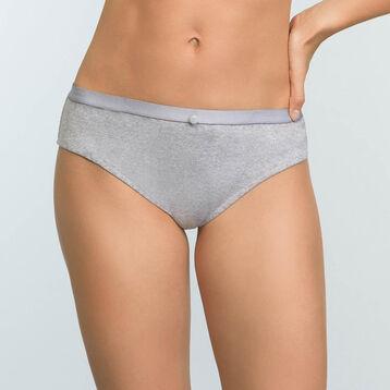 Braguita gris claro jaspeado de algodón elástico Casual Line, , DIM
