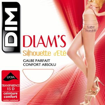 Collant Diam's Silhouette d'été 15D coloris peau dorée-DIM