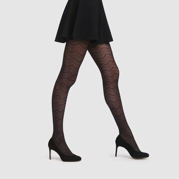 Panty estampado gráfico de tul negro Style de Dim 20D, , DIM