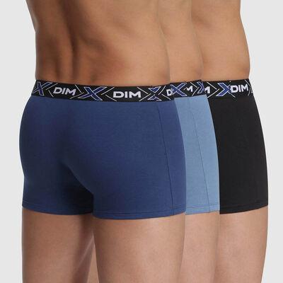 Pack de 3 bóxers azules de algodón X-Temp , , DIM