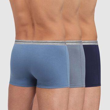 Pack de 3 bóxers azul y gris de algodón elástico resistente Ultra Resist, , DIM