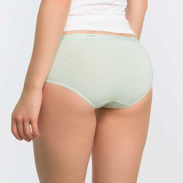 Pack de 3 culottes de algodón aguamarina, azul y blanca - Ecodim, , DIM