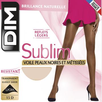 Collant acajou Sublim peaux noires et métisses 15D-DIM