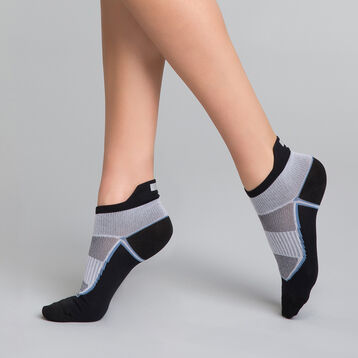 Calcetines bajos de alto impacto negros y grises Mujer - Dim Sport  , , DIM