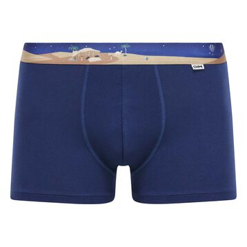 Bóxer azul eclipse de algodón elástico con cintura estampada , , DIM