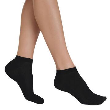 Lot de 2 socquettes invisibles noires Light Coton Femme-DIM