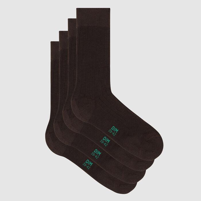 Pack de 2 pares de calcetines para hombre lyocell marrón Green by Dim, , DIM
