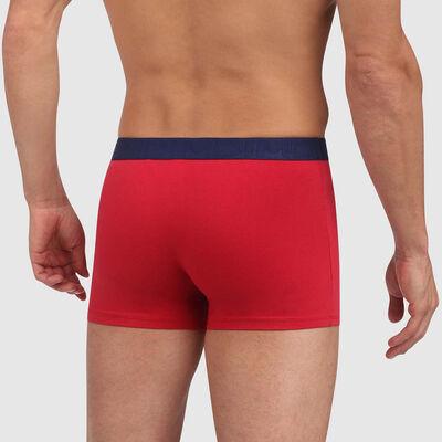 Bóxer rojo de algodón elástico con cintura contrastada Mix and Fancy, , DIM