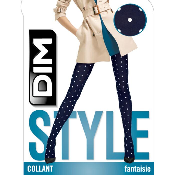 Panty opaco plumetis retro azul marino Style de Dim 40D, , DIM
