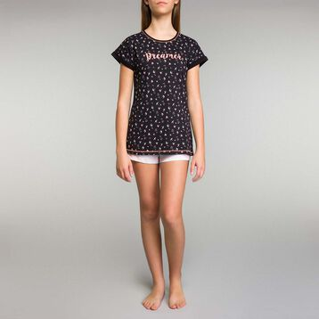 Pijama corto de niña con estampado de pájaros - Nuit Birds, , DIM