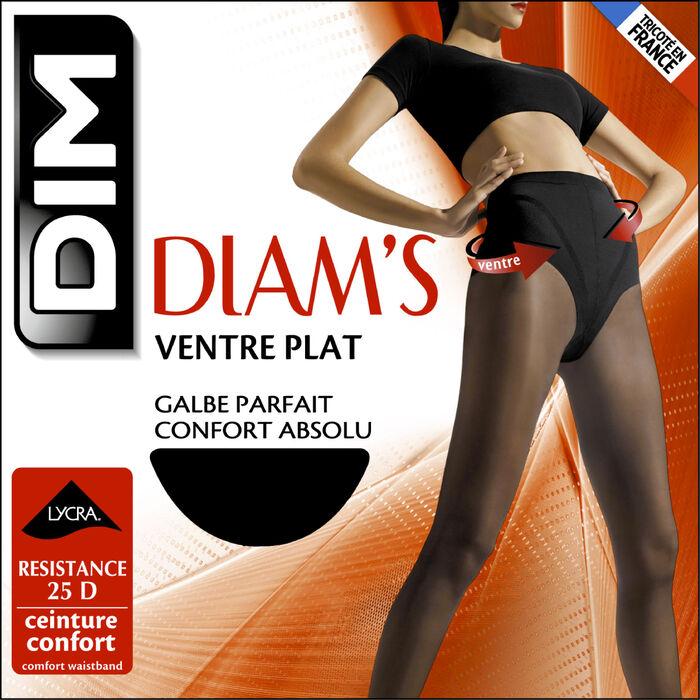 Pack de 2 pantis negros vientre plano 25D - Diam's, , DIM