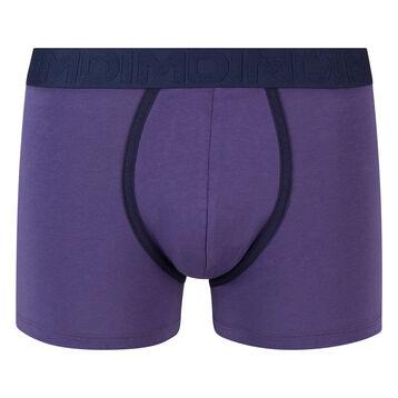 Bóxer azul de algodón elástico con cintura azul oscura Mix and Fancy, , DIM