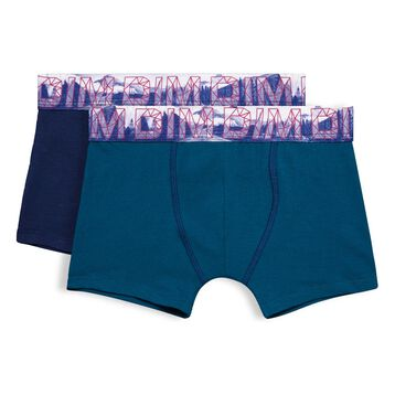 Lot de 2 Boxers bleu matelot et bleu diesel Northern Boy-DIM