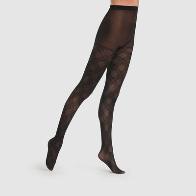 Pantis negros argyle transparentes Dim Style 43D, , DIM