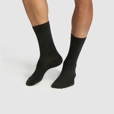 Pack de 2 pares de calcetines para hombre lyocell antracita Green by Dim, , DIM