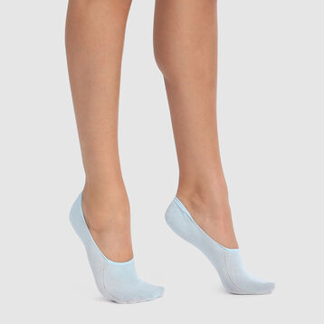 Pack de 2 pares de pinkies azules especial sneakers Invisifit 107D, , DIM