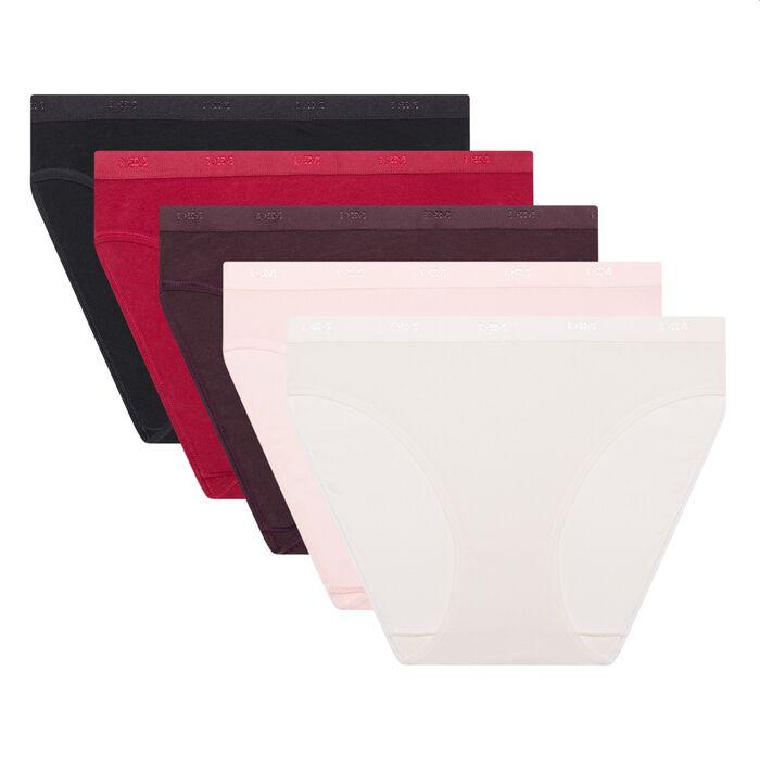 Pack de 5 braguitas de algodón elástico Les Pockets EcoDim, , DIM