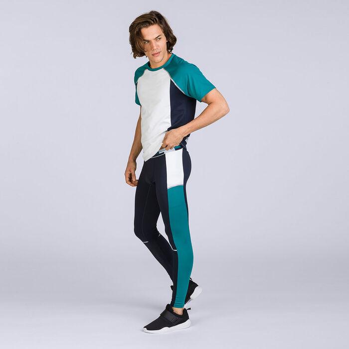 T-shirt blanc et vert DIM Sport-DIM
