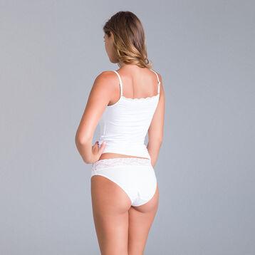 Caraco dentelle blanc Les Pockets en viscose-DIM