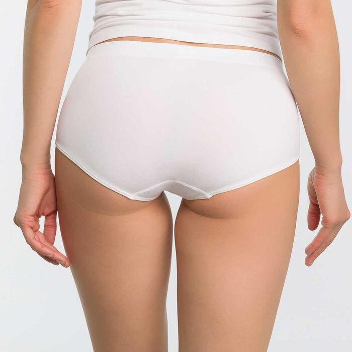 Pack de 2 culottes negro y blanco de microfibra - Les Pockets, , DIM