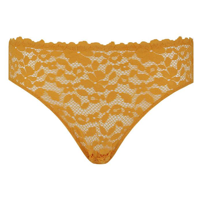 Braguita amarilla de encaje y microfibra Blooming Lace DIm, , DIM