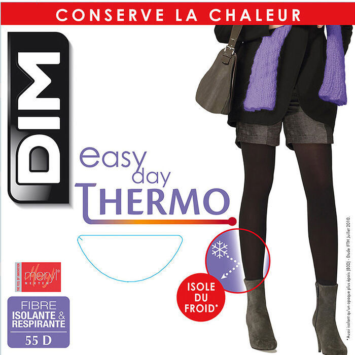 Collant chaud noir Thermo Isolant 55D-DIM