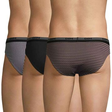 Pack de 3 slips de algodón con estampado geométrico - Coton Stretch, , DIM