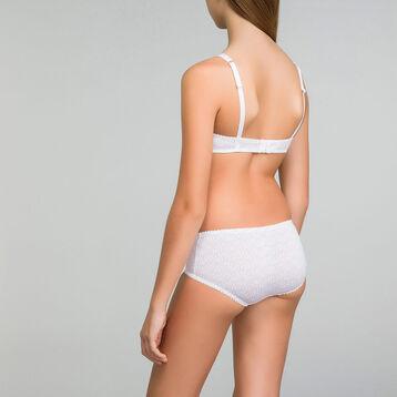 Sujetador blanco triangular con estampado de logos - DIM Touch Girl, , DIM